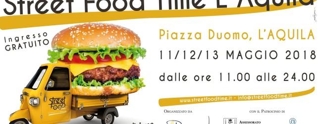 Tutto pronto per lo Street Food Time L'Aquila, eventi da domani a domenica