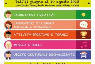 Chieti, dall'11 giugno al 10 agosto il Campus della Creatività per ragazzi da 5 a 12 anni