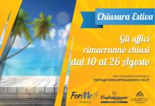 Gli uffici di Confartigianato Chieti L'Aquila saranno chiusi dal 10 al 26 agosto