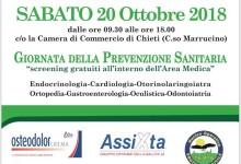 """""""ilChieti In Salute"""", il 20 ottobre l'evento: screening gratuiti"""