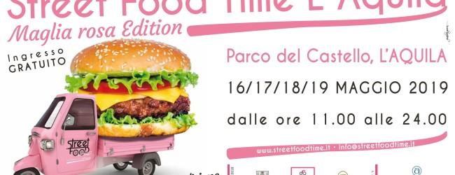 Street Food Time 'Maglia rosa' Edition, a L'Aquila dal 16 al 19 maggio
