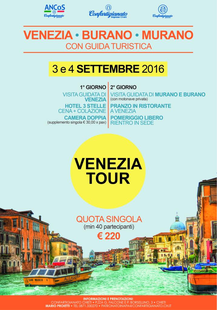 Tour Venezia, Burano e Murano